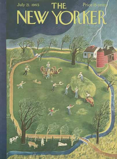 WomenArt Ilonka Karasz Cover The New Yorker 1945_07_21 Copyright | 69 Women Cover Artists and 826 Covers 1902-1970