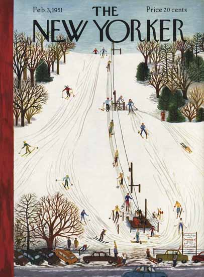 WomenArt Ilonka Karasz Cover The New Yorker 1951_02_03 Copyright | 69 Women Cover Artists and 826 Covers 1902-1970