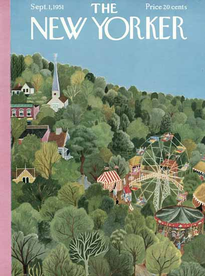 WomenArt Ilonka Karasz Cover The New Yorker 1951_09_01 Copyright | 69 Women Cover Artists and 826 Covers 1902-1970