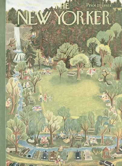 WomenArt Ilonka Karasz Cover The New Yorker 1953_06_27 Copyright | 69 Women Cover Artists and 826 Covers 1902-1970