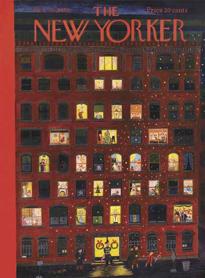 WomenArt Ilonka Karasz Cover The New Yorker 1953_12_26 Copyright   69 Women Cover Artists and 826 Covers 1902-1970