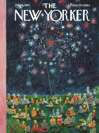 WomenArt Ilonka Karasz Cover The New Yorker 1957_07_06 Copyright | 69 Women Cover Artists and 826 Covers 1902-1970