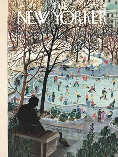 WomenArt Ilonka Karasz Cover The New Yorker 1961_02_04 Copyright | 69 Women Cover Artists and 826 Covers 1902-1970