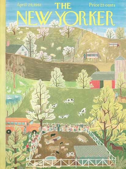 WomenArt Ilonka Karasz Cover The New Yorker 1961_04_29 Copyright | 69 Women Cover Artists and 826 Covers 1902-1970
