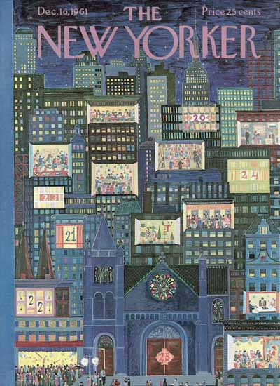 WomenArt Ilonka Karasz Cover The New Yorker 1961_12_16 Copyright | 69 Women Cover Artists and 826 Covers 1902-1970