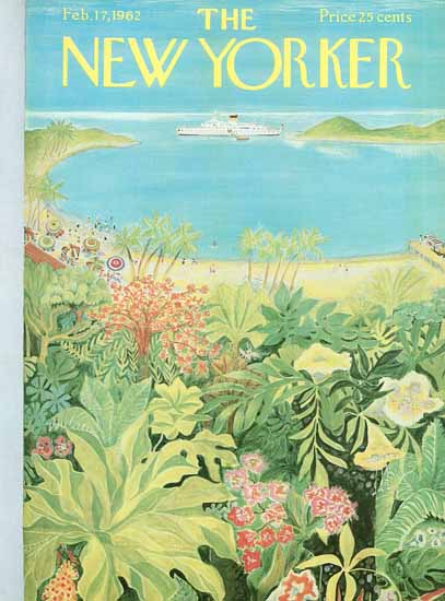 WomenArt Ilonka Karasz Cover The New Yorker 1962_02_17 Copyright | 69 Women Cover Artists and 826 Covers 1902-1970