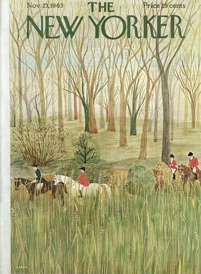 WomenArt Ilonka Karasz Cover The New Yorker 1963_11_23 Copyright | 69 Women Cover Artists and 826 Covers 1902-1970