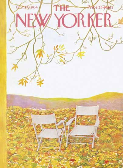 WomenArt Ilonka Karasz Cover The New Yorker 1964_10_17 Copyright | 69 Women Cover Artists and 826 Covers 1902-1970