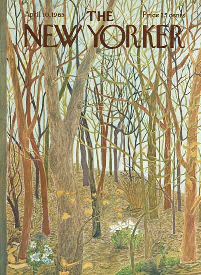 WomenArt Ilonka Karasz Cover The New Yorker 1965_04_10 Copyright | 69 Women Cover Artists and 826 Covers 1902-1970