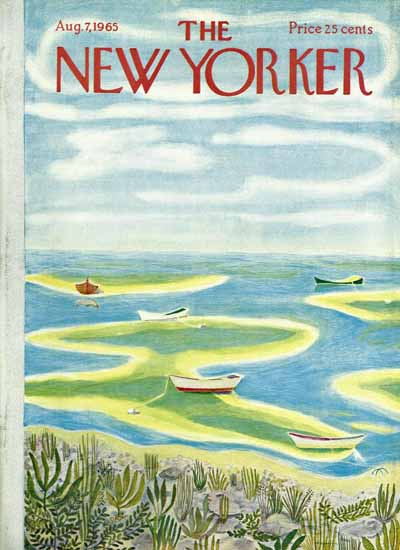WomenArt Ilonka Karasz Cover The New Yorker 1965_08_07 Copyright | 69 Women Cover Artists and 826 Covers 1902-1970