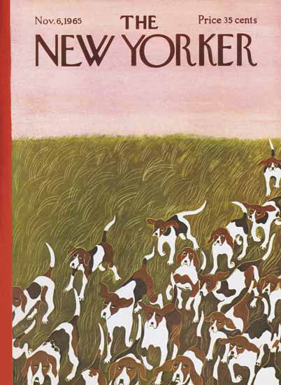 WomenArt Ilonka Karasz Cover The New Yorker 1965_11_06 Copyright | 69 Women Cover Artists and 826 Covers 1902-1970