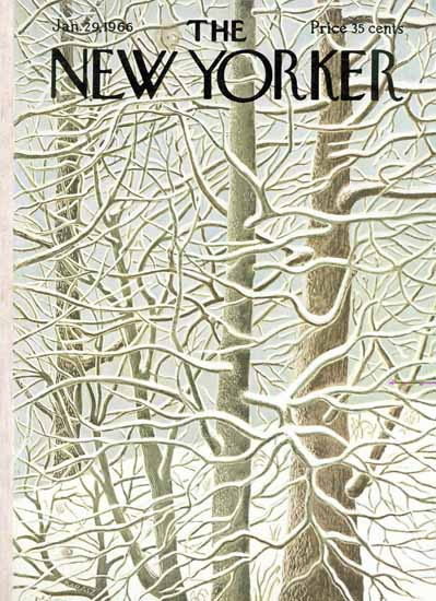 WomenArt Ilonka Karasz Cover The New Yorker 1966_01_29 Copyright | 69 Women Cover Artists and 826 Covers 1902-1970