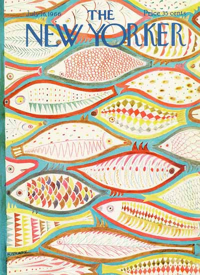 WomenArt Ilonka Karasz Cover The New Yorker 1966_07_16 Copyright | 69 Women Cover Artists and 826 Covers 1902-1970