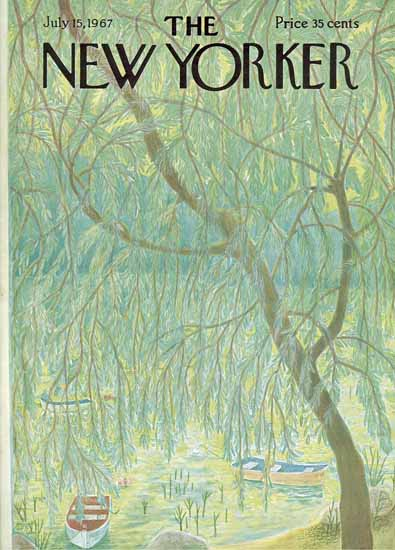 WomenArt Ilonka Karasz Cover The New Yorker 1967_07_15 Copyright | 69 Women Cover Artists and 826 Covers 1902-1970