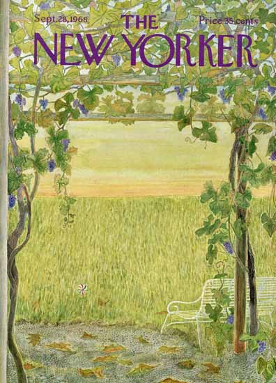 WomenArt Ilonka Karasz Cover The New Yorker 1968_09_28 Copyright | 69 Women Cover Artists and 826 Covers 1902-1970