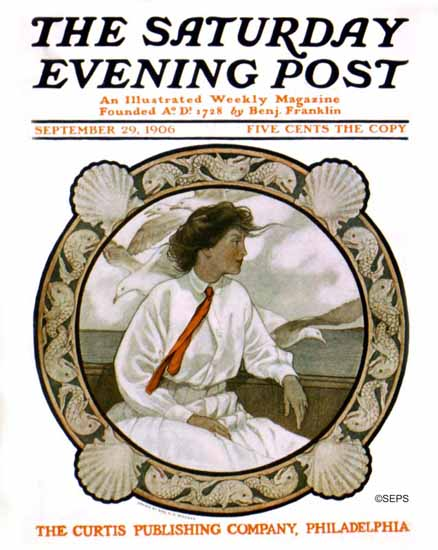 WomenArt Katharine R Wireman Cover Saturday Evening Post 1906_09_29 | 69 Women Cover Artists and 826 Covers 1902-1970