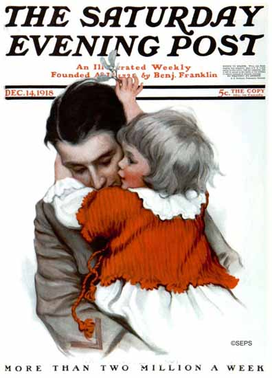 WomenArt Katharine R Wireman Cover Saturday Evening Post 1918_12_14 | 69 Women Cover Artists and 826 Covers 1902-1970