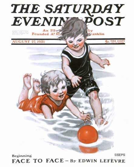 WomenArt Katharine R Wireman Cover Saturday Evening Post 1921_08_27 | 69 Women Cover Artists and 826 Covers 1902-1970