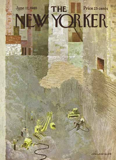 WomenArt Laura Jean Allen Cover The New Yorker 1965_06_12 Copyright | 69 Women Cover Artists and 826 Covers 1902-1970