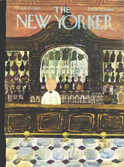 WomenArt Laura Jean Allen Cover The New Yorker 1965_09_25 Copyright | 69 Women Cover Artists and 826 Covers 1902-1970