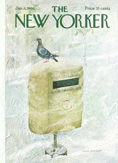 WomenArt Laura Jean Allen Cover The New Yorker 1966_01_08 Copyright | 69 Women Cover Artists and 826 Covers 1902-1970
