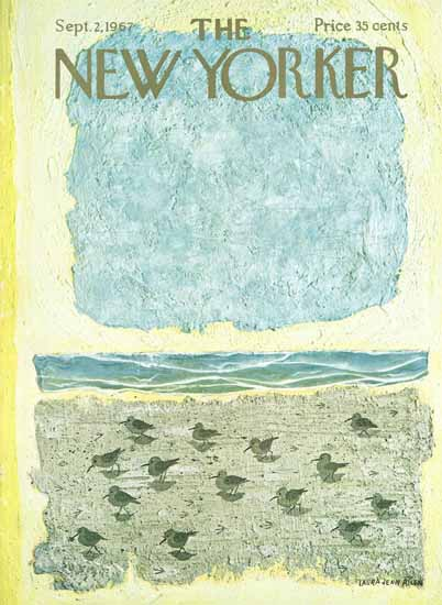 WomenArt Laura Jean Allen Cover The New Yorker 1967_09_02 Copyright | 69 Women Cover Artists and 826 Covers 1902-1970