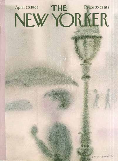 WomenArt Laura Jean Allen Cover The New Yorker 1968_04_20 Copyright | 69 Women Cover Artists and 826 Covers 1902-1970