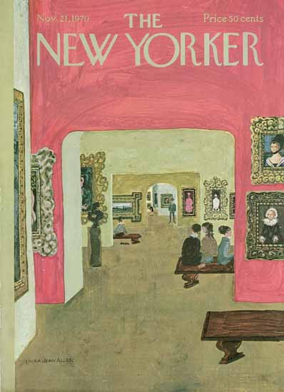 WomenArt Laura Jean Allen Cover The New Yorker 1970_11_21 Copyright | 69 Women Cover Artists and 826 Covers 1902-1970