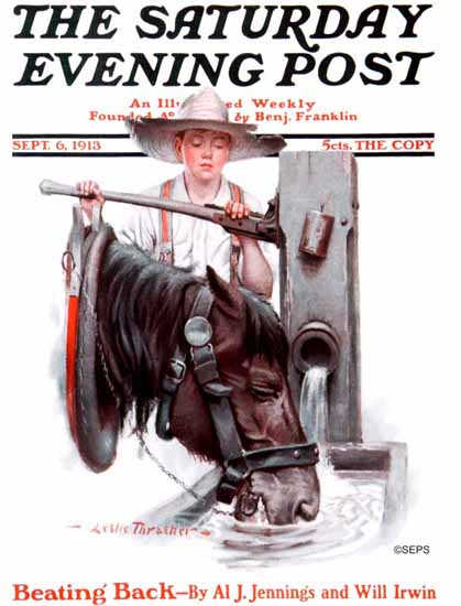 WomenArt Leslie Thrasher Cover Saturday Evening Post 1913_09_06 | 69 Women Cover Artists and 826 Covers 1902-1970