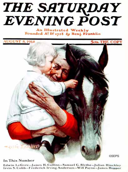WomenArt Leslie Thrasher Cover Saturday Evening Post 1914_08_08 | 69 Women Cover Artists and 826 Covers 1902-1970