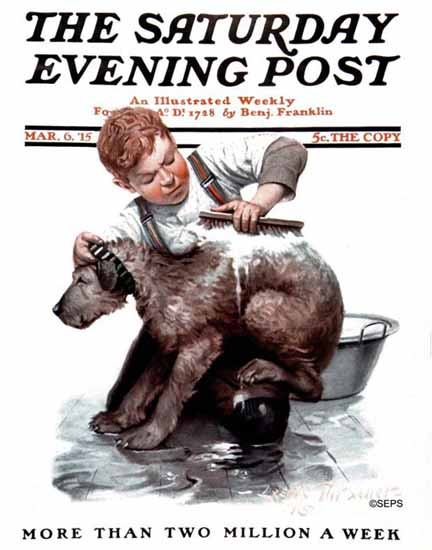 WomenArt Leslie Thrasher Cover Saturday Evening Post 1915_03_06 | 69 Women Cover Artists and 826 Covers 1902-1970
