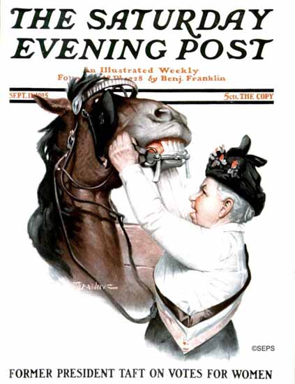 WomenArt Leslie Thrasher Cover Saturday Evening Post 1915_09_11 | 69 Women Cover Artists and 826 Covers 1902-1970