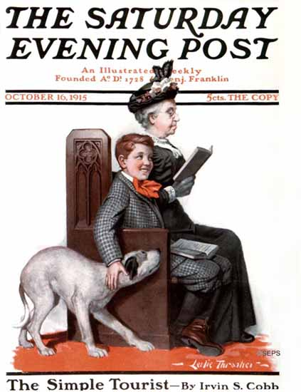 WomenArt Leslie Thrasher Cover Saturday Evening Post 1915_10_16 | 69 Women Cover Artists and 826 Covers 1902-1970