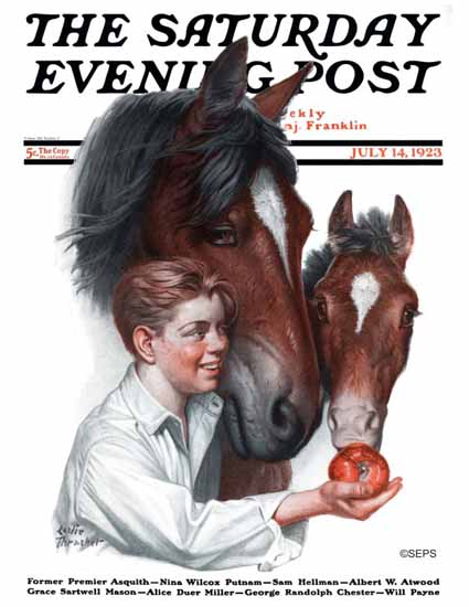 WomenArt Leslie Thrasher Cover Saturday Evening Post 1923_07_14 | 69 Women Cover Artists and 826 Covers 1902-1970