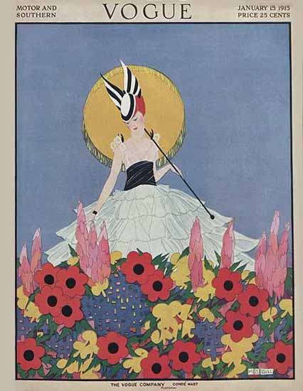WomenArt Margaret B Bull Cover Vogue 1915-01-15 Copyright | 69 Women Cover Artists and 826 Covers 1902-1970