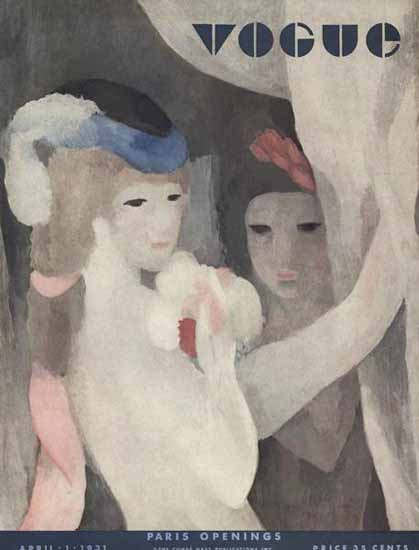 WomenArt Marie Laurencin Cover Vogue 1931-04-01 Copyright | 69 Women Cover Artists and 826 Covers 1902-1970