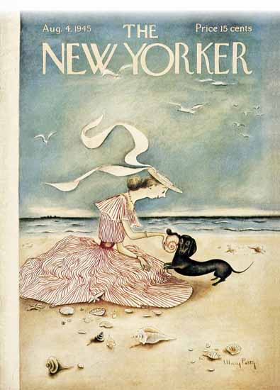 WomenArt Mary Petty Cover The New Yorker 1945_08_04 Copyright | 69 Women Cover Artists and 826 Covers 1902-1970