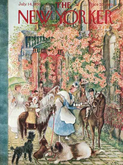 WomenArt Mary Petty Cover The New Yorker 1956_07_14 Copyright   69 Women Cover Artists and 826 Covers 1902-1970