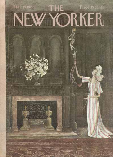 WomenArt Mary Petty Cover The New Yorker 1966_03_19 Copyright   69 Women Cover Artists and 826 Covers 1902-1970