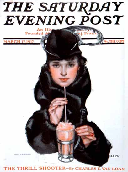 WomenArt Neysa McMein Cover Saturday Evening Post 1917_03_17 | 69 Women Cover Artists and 826 Covers 1902-1970