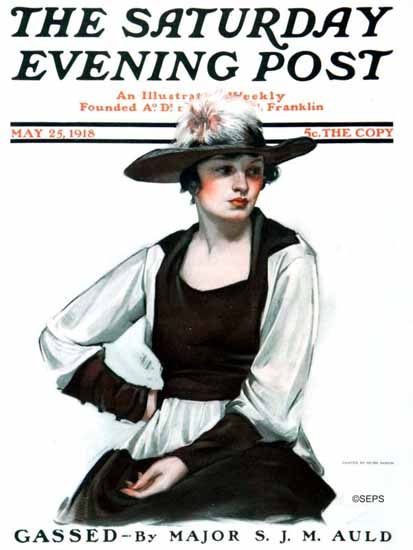 WomenArt Neysa McMein Cover Saturday Evening Post 1918_05_25 | 69 Women Cover Artists and 826 Covers 1902-1970