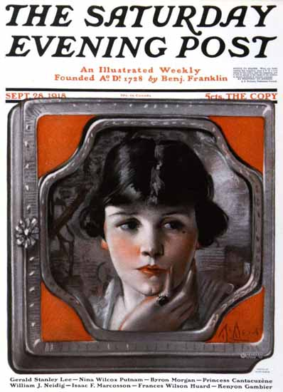 WomenArt Neysa McMein Cover Saturday Evening Post 1918_09_28 | 69 Women Cover Artists and 826 Covers 1902-1970