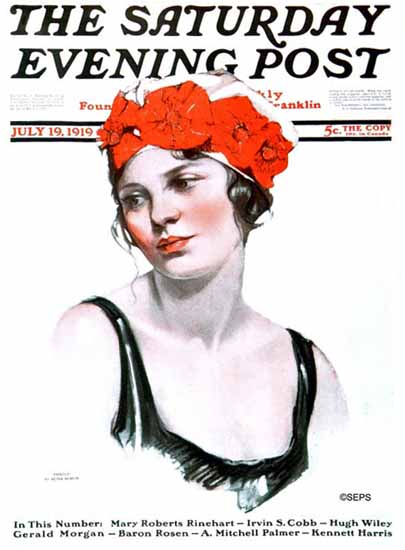 WomenArt Neysa McMein Cover Saturday Evening Post 1919_07_19 | 69 Women Cover Artists and 826 Covers 1902-1970