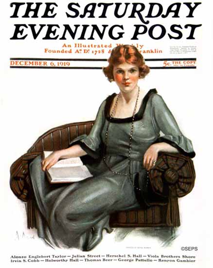 WomenArt Neysa McMein Cover Saturday Evening Post 1919_12_06 | 69 Women Cover Artists and 826 Covers 1902-1970