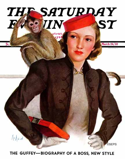 WomenArt Neysa McMein Saturday Evening Post Matching 1938_03_26 | 69 Women Cover Artists and 826 Covers 1902-1970