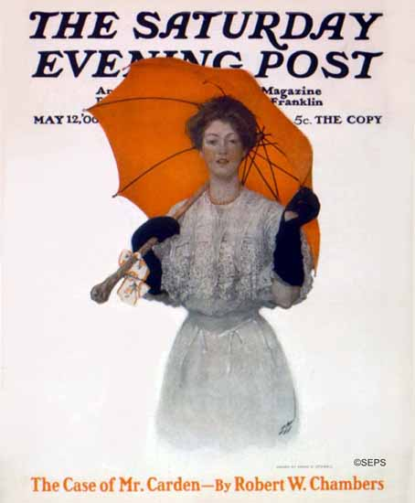 WomenArt Sarah Stilwell-Weber Cover Saturday Evening Post 1906_05_12   69 Women Cover Artists and 826 Covers 1902-1970