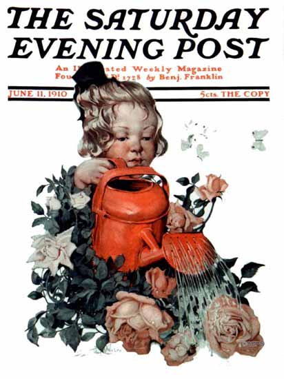 WomenArt Sarah Stilwell-Weber Cover Saturday Evening Post 1910_06_11 | 69 Women Cover Artists and 826 Covers 1902-1970
