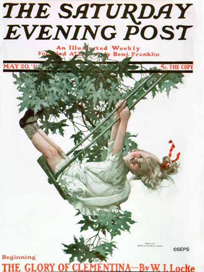 WomenArt Sarah Stilwell-Weber Cover Saturday Evening Post 1911_05_20 | 69 Women Cover Artists and 826 Covers 1902-1970