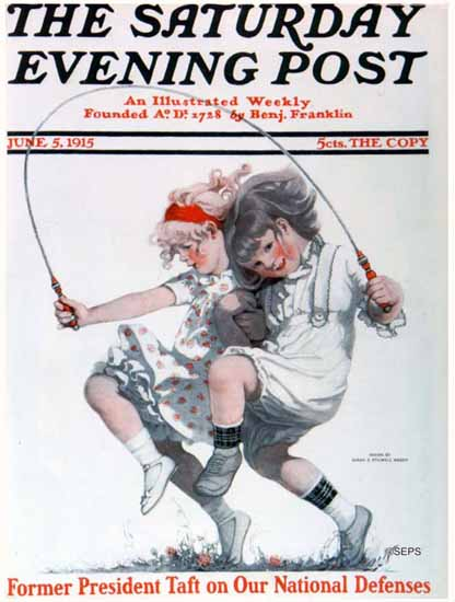 WomenArt Sarah Stilwell-Weber Cover Saturday Evening Post 1915_06_05   69 Women Cover Artists and 826 Covers 1902-1970