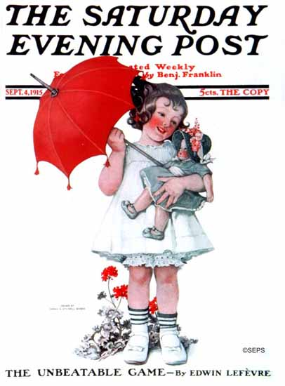 WomenArt Sarah Stilwell-Weber Cover Saturday Evening Post 1915_09_04 | 69 Women Cover Artists and 826 Covers 1902-1970